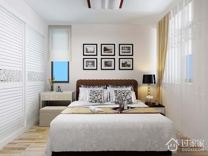 107平现代三室住宅欣赏卧室衣柜