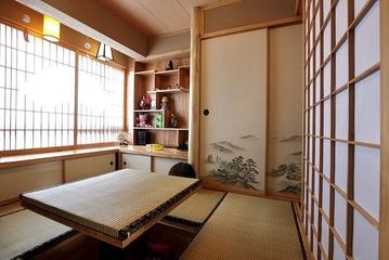 93平美式风格住宅欣赏茶室