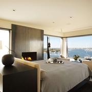 现代风格效果卧室全景