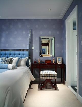87平美式风格样板间欣赏卧室效果