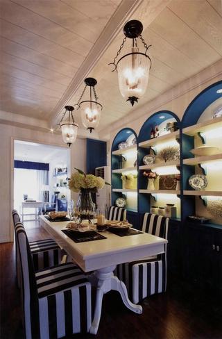品质地中海住宅欣赏餐厅餐桌