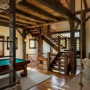 美式乡村木色别墅效果图游戏厅