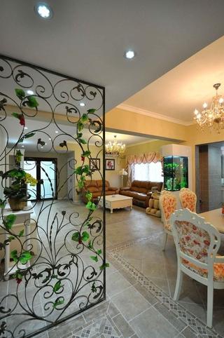 102平美式三居室欣赏客厅隔断