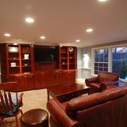 美式风格别墅装修套图电视背景墙