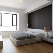 白色现代风格设计案例欣赏卧室窗户