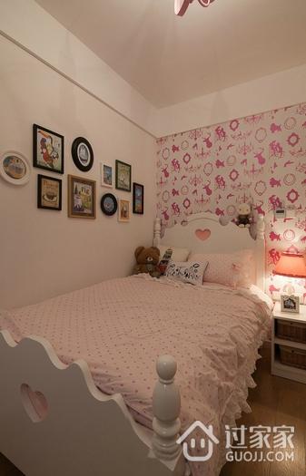 118平简约三居室案例欣赏儿童房照片墙