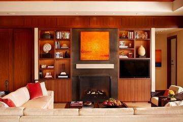 中式风格别墅套图客厅壁炉
