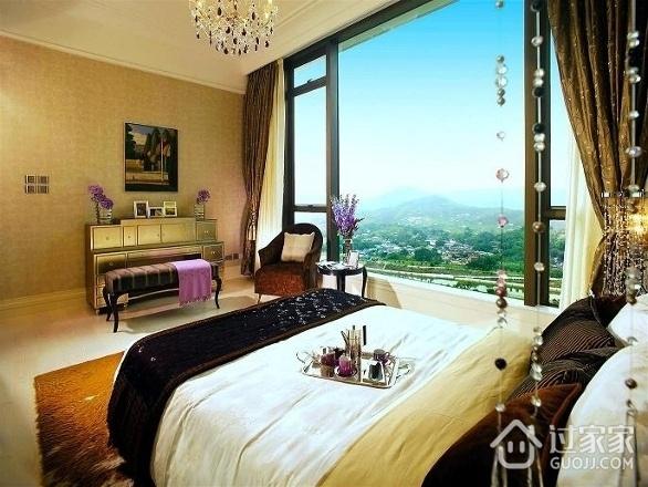 新古典三居室案例设计欣赏卧室窗户