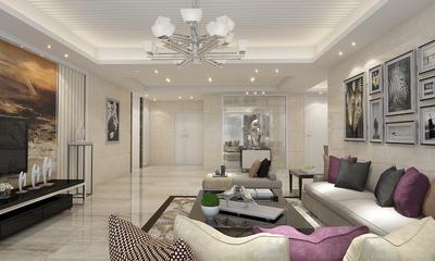 时尚客厅吊顶装修效果图 摩登现代公寓