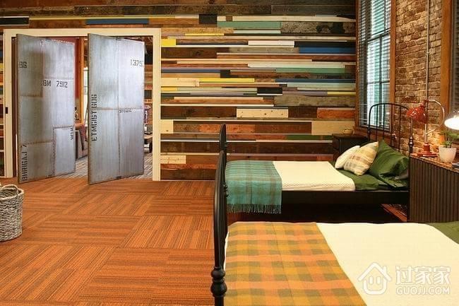五颜六色创意混搭欣赏卧室