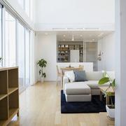 日式清爽复式楼欣赏客厅效果