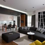 现代顶层公寓客餐厅