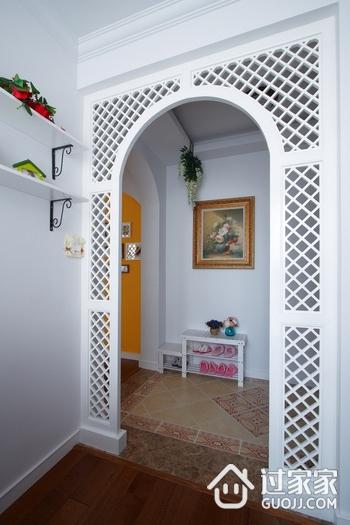 玄关装饰窗效果图 74平美式乡村二居室