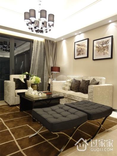 现代客厅灯饰装修效果图 时尚暖色格调