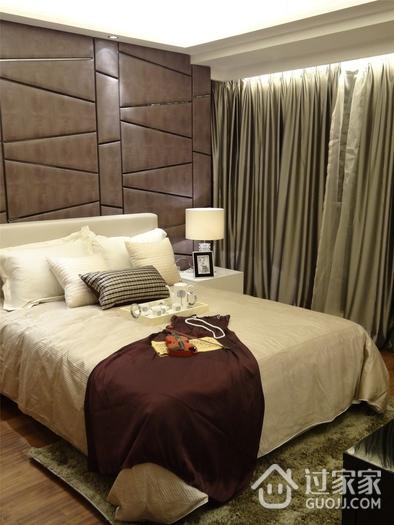 舒适温馨 现代卧室窗帘装饰图