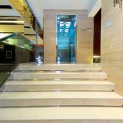 新古典样板房效果图大理石楼梯