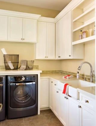 美式风格别墅欣赏洗衣房