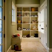 欧式家装效果图开放式鞋柜