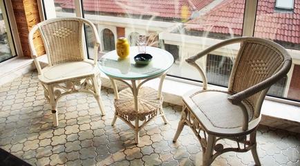 休闲阳台茶几摆放图 打造简欧浪漫家居