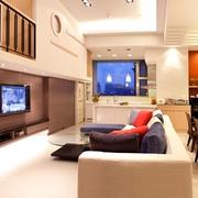 现代简约风格装修套图客厅全景效果图片