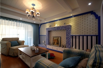 79平地中海温馨住宅欣赏客厅设计