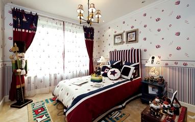 蓝白地中海风卧室