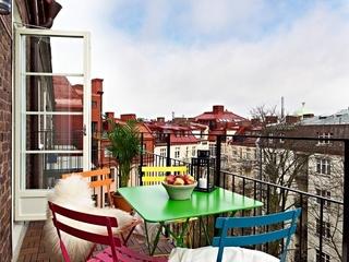 70平白色北欧住宅欣赏阳台设计