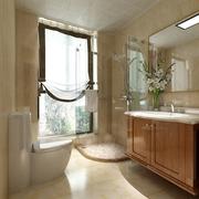 110平雅致中式住宅欣赏卫生间吊顶