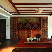 古典风客厅背景墙