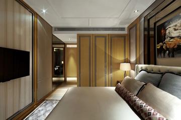 110平奢华现代住宅欣赏卧室背景墙
