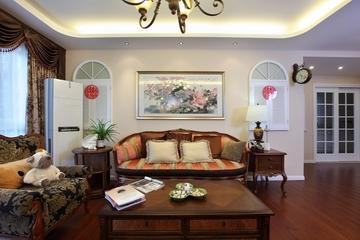美式风三居室雅居欣赏客厅窗帘