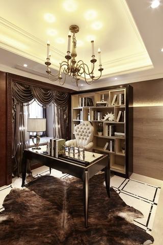 低调新古典样板房欣赏书房设计