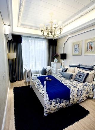 白色地中海三居欣赏卧室吊顶