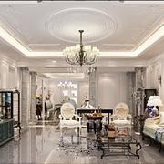 法式贵气样板间欣赏客厅设计图
