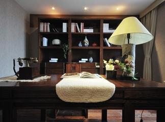 中式传统风住宅欣赏书房书架