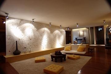 美式田园风三居欣赏客厅背景墙