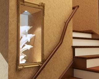 145平欧式奢华案例欣赏楼梯间