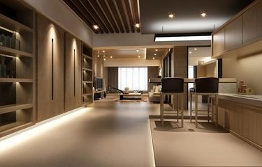 时尚开放式厨房吊顶效果图 唯美空间
