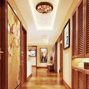89平新中式住宅欣赏玄关吊顶