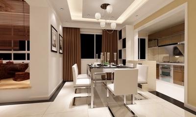 精美空间 现代餐厅窗帘装饰效果图