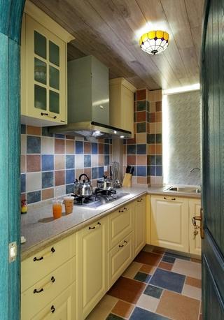 白色地中海两居室欣赏厨房橱柜