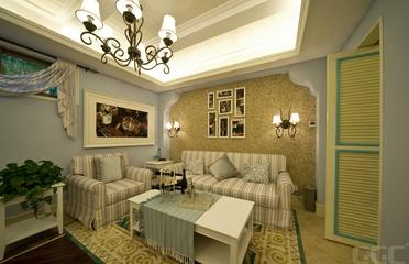 地中海风效果套图休息厅背景墙