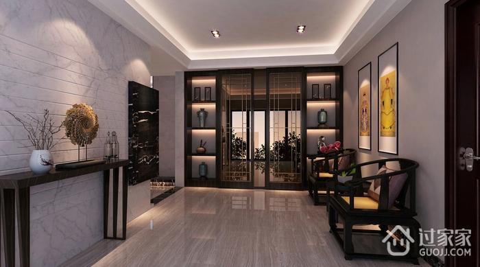 新中式玄关设计效果图 儒雅空间