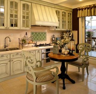 98平米三居室混搭风格开放式的厨房