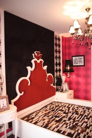 110平田园风两居欣赏卧室背景墙设计