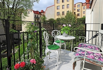白色北欧98平住宅欣赏阳台