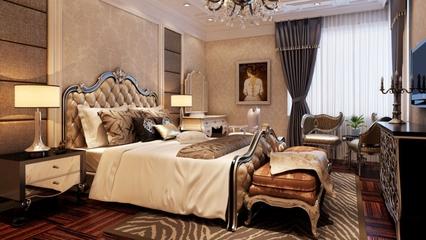 欧式奢华效果图案例欣赏卧室