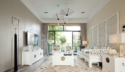 110平白色新中式住宅欣赏