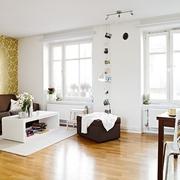 白色北欧一居室案例欣赏客厅窗户