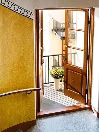 白色北欧42平公寓欣赏阳台